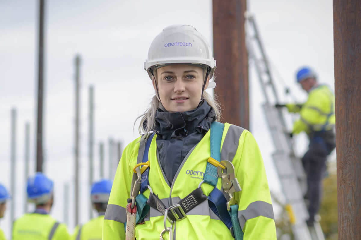 Female Openreach engineer