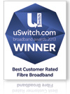 uSwitch.com broadband awards 2013 winner
