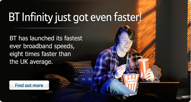 Upgrade to BT Infinity fibre optic broadband and claim a £50 Sainsbury's Gift Card