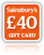 Sainsburys £40 Gift Card