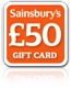 Sainsburys £50 Gift Card
