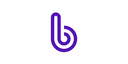 B broadband icon purple