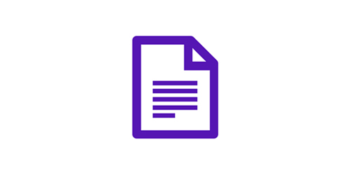 Document icon for billing