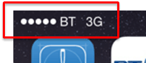 BT Mobile network indicator