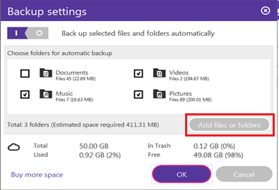 BT Cloud add more folders