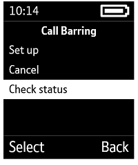 Check call barring status