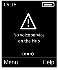 No voice service on Hub