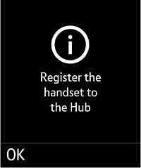 Register the handset