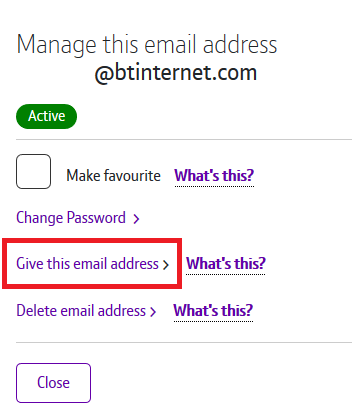 Give this email address