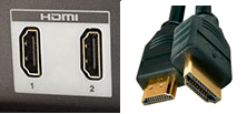 HDMI ports and cable