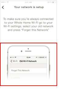 Screenshot showing Forget This Network