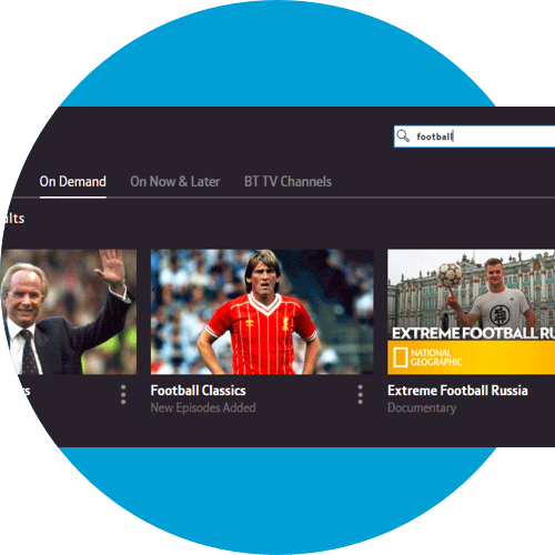 Screen on the web showing the search box so you can find your On Demand programmes