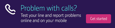Report and fix landline problems online
