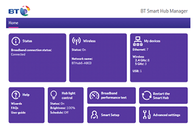 Turning off BT Access Control on the BT Smart Hub
