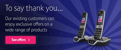 To say thank you... Our existing customers can enjoy exclusive offers on a wide range of products. See offers
