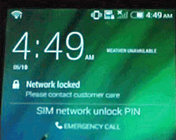 Locked mobile phone message