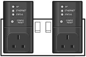 Adapters plugged into double socket