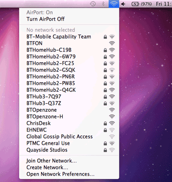 Connecting to a Hub wirelessly with a Mac with OSX