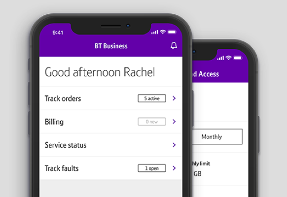 Easy on the go access in the BT Business app