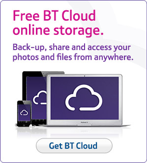Free BT Cloud online storage